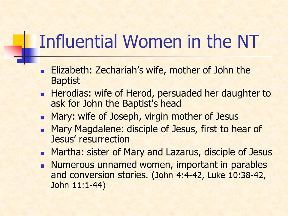 Influential Women in the NT