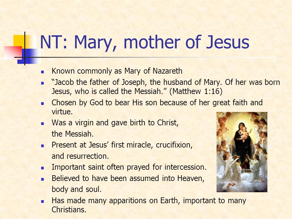 NT: Mary, mother of Jesus