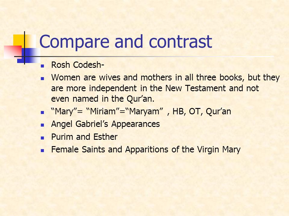 Compare and contrast Rosh Codesh-