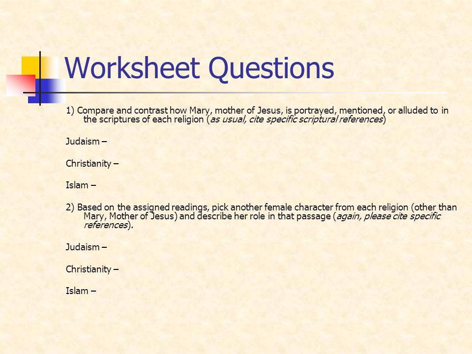 Worksheet Questions
