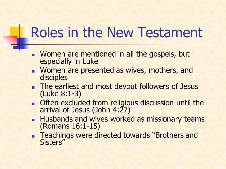 Roles in the New Testament