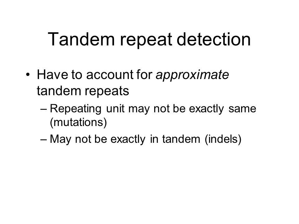 Tandem repeat detection