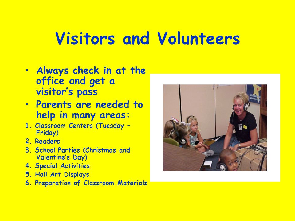 Visitors and Volunteers