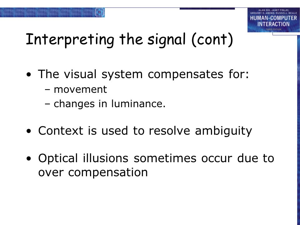 Interpreting the signal (cont)