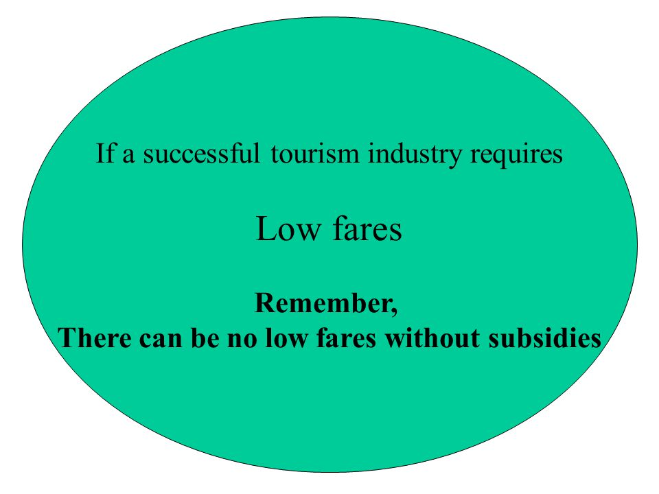 There can be no low fares without subsidies