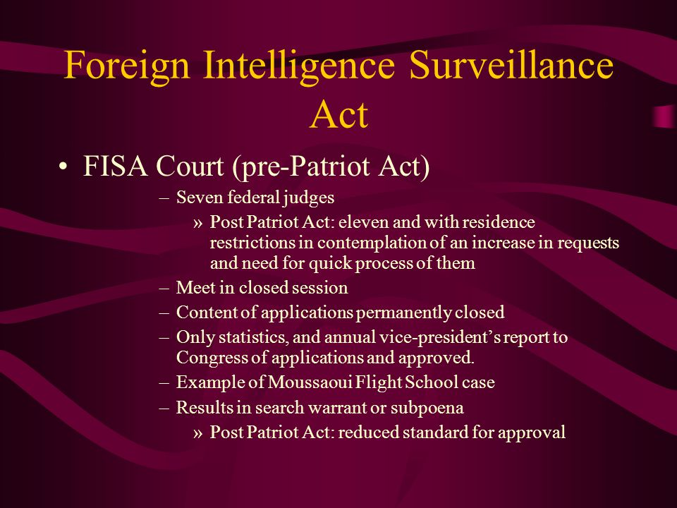 Foreign Intelligence Surveillance Act