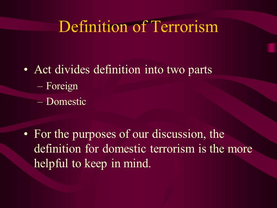 Definition of Terrorism