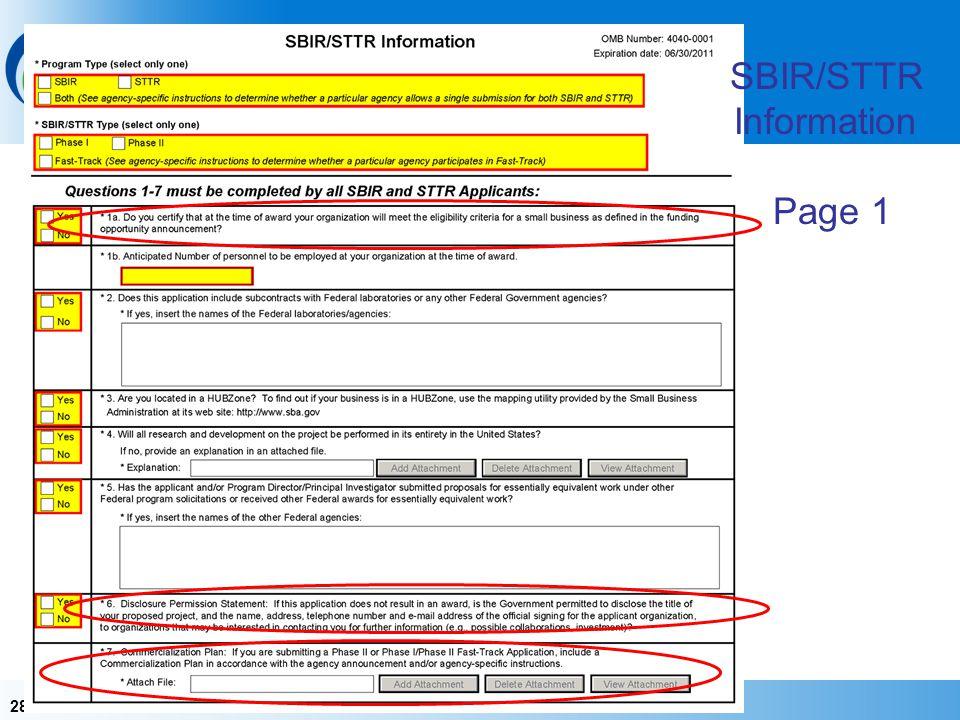 SBIR/STTR Information Page 1