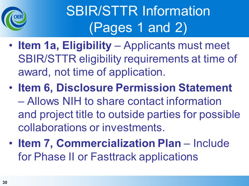 SBIR/STTR Information (Pages 1 and 2)