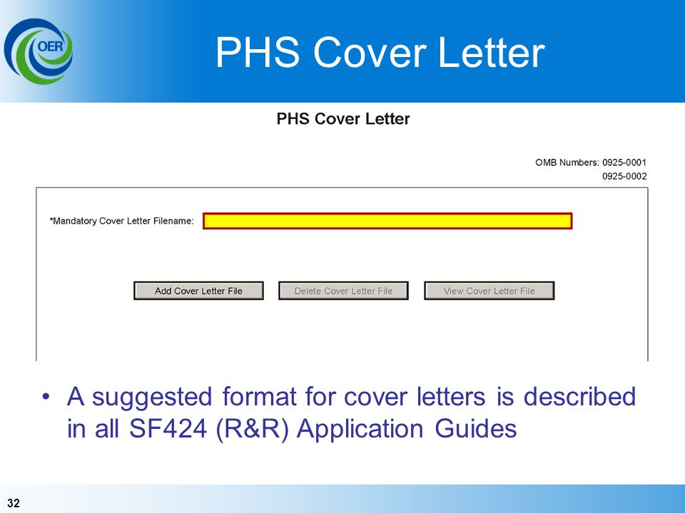 PHS Cover Letter Encourage you to use. Why you might: