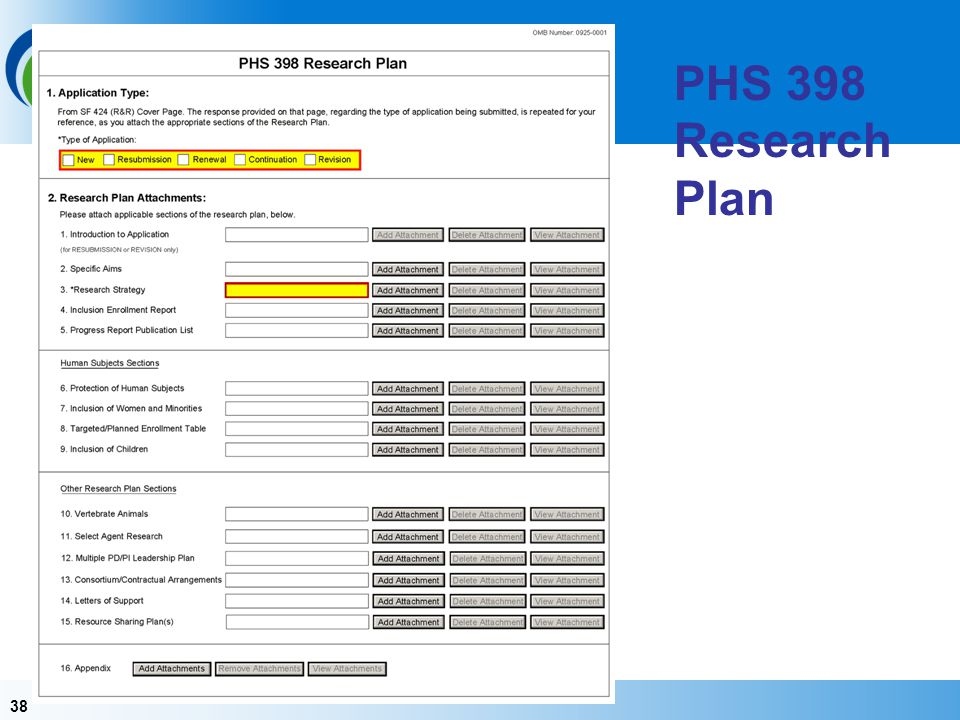 PHS 398 Research Plan Items 1 should pre-populate – this is why you are always going to start with the SF 424 R&R.