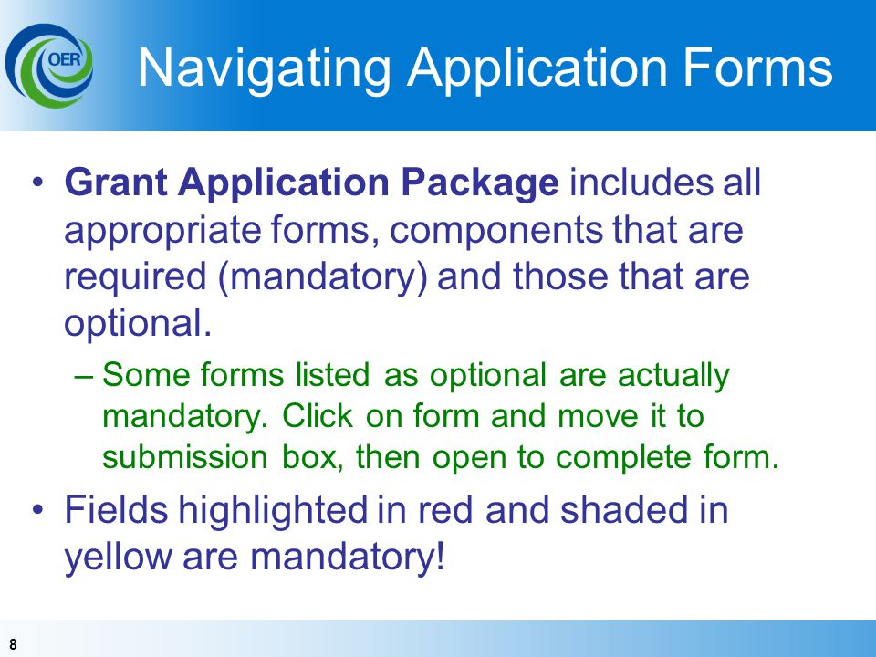 Navigating Application Forms