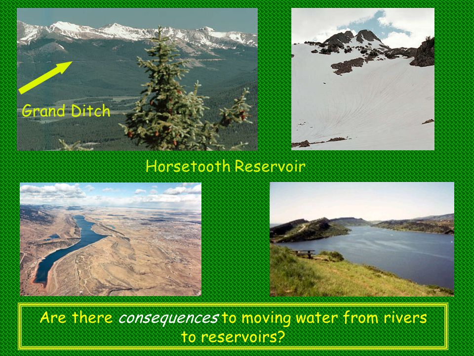 Are there consequences to moving water from rivers to reservoirs