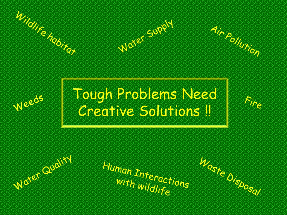 Tough Problems Need Creative Solutions !!