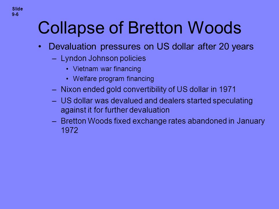 Collapse of Bretton Woods