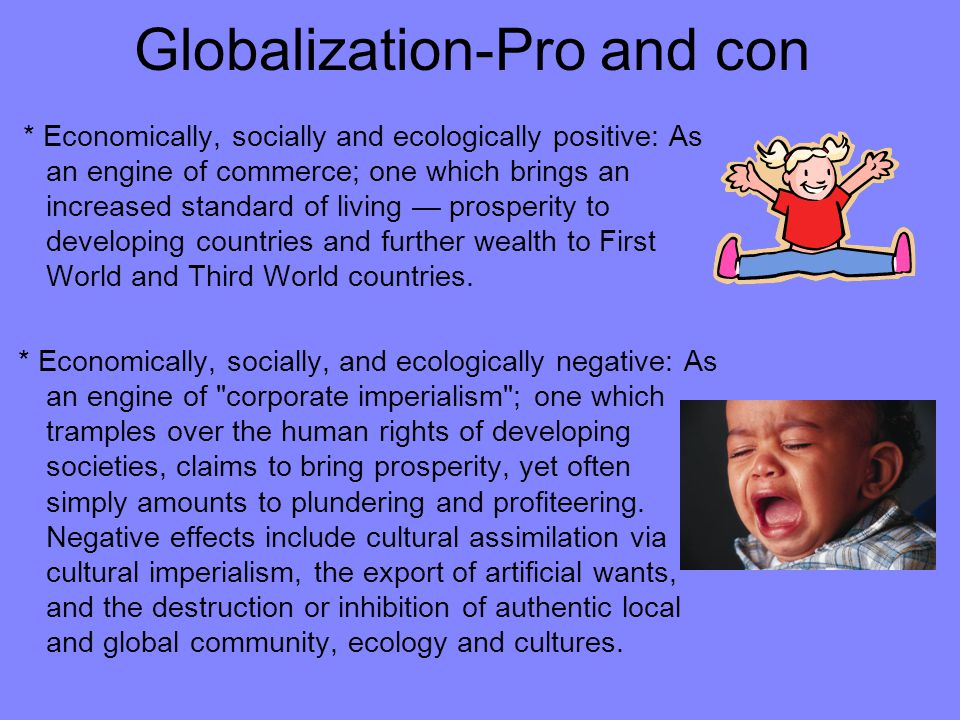 Globalization-Pro and con