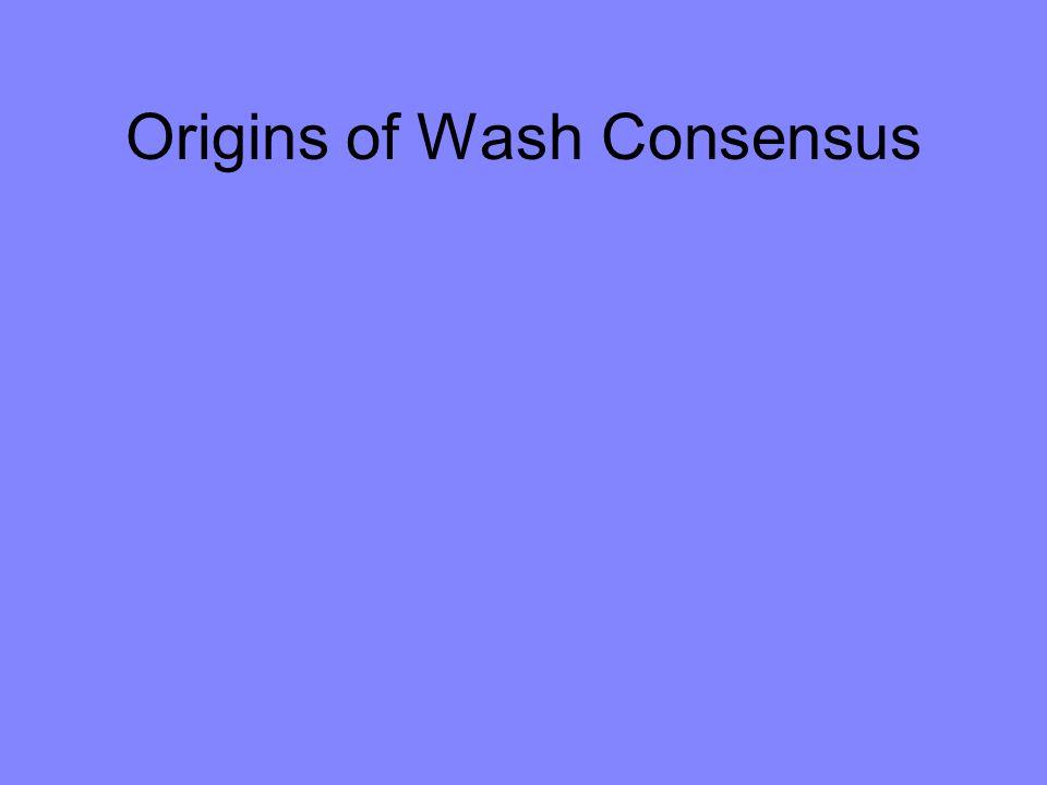 Origins of Wash Consensus