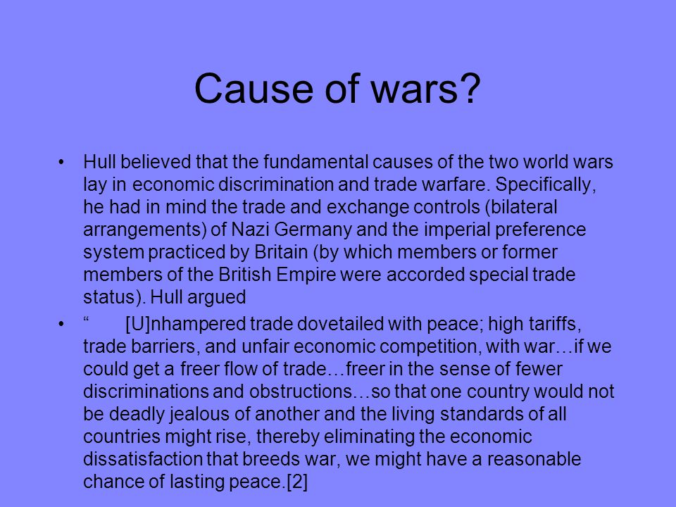 Cause of wars
