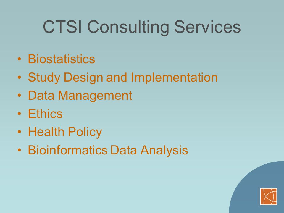 CTSI Consulting Services