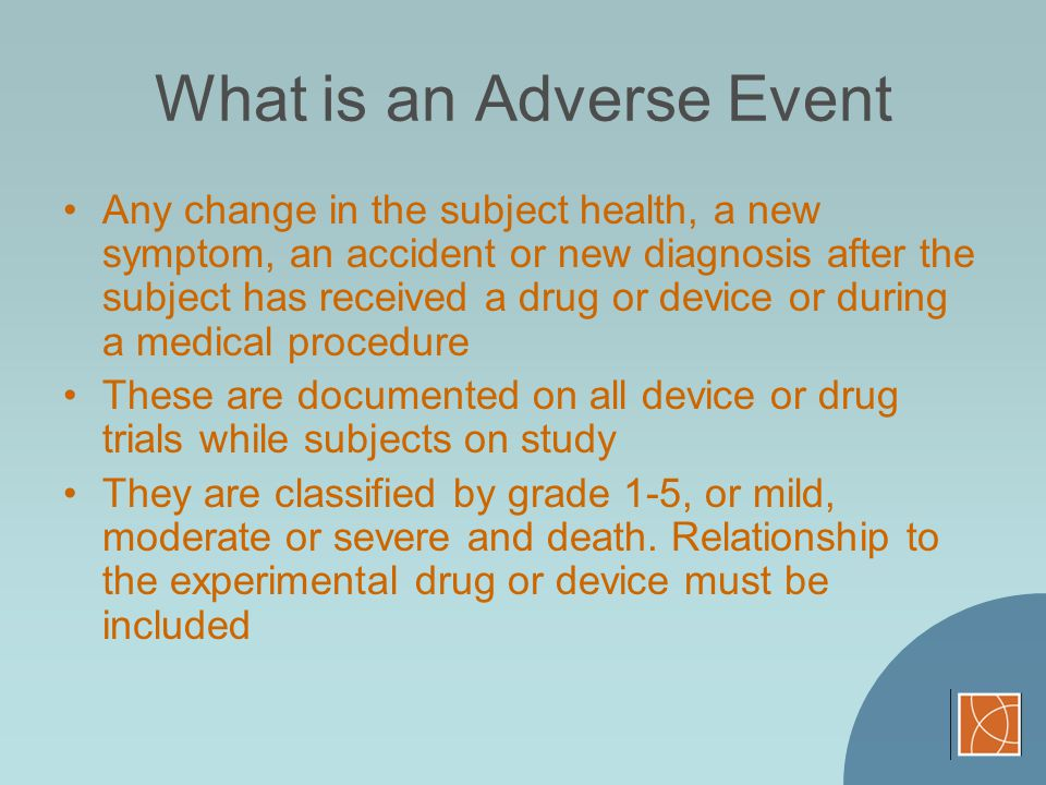 What is an Adverse Event