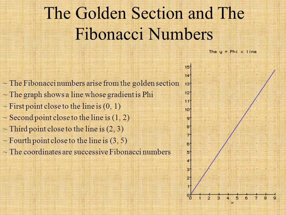 The Golden Section and The Fibonacci Numbers