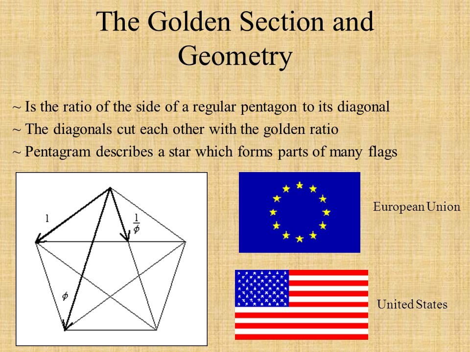 The Golden Section and Geometry