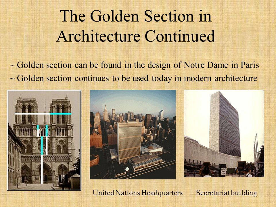 Modern Architecture Golden Ratio the fibonacci numbers and the golden section - ppt video online