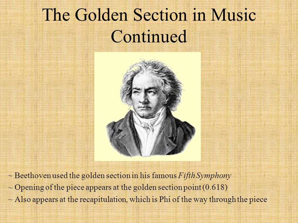 The Golden Section in Music Continued
