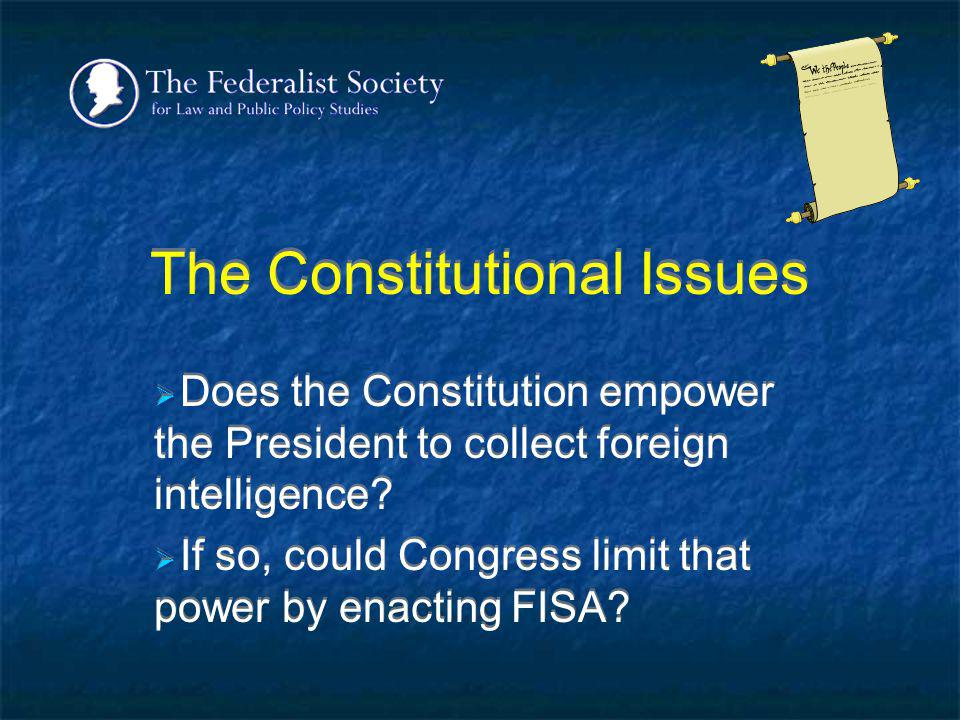 The Constitutional Issues
