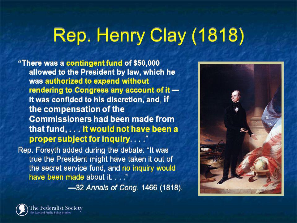 Rep. Henry Clay (1818)