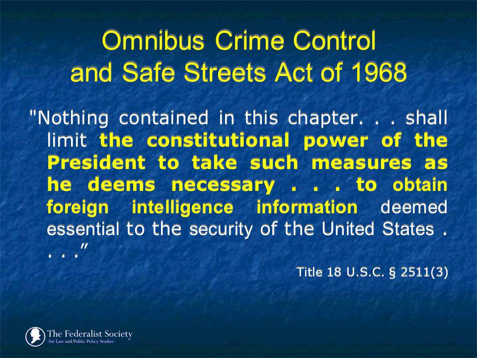 Omnibus Crime Control and Safe Streets Act of 1968