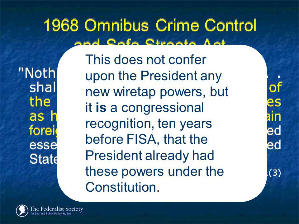 1968 Omnibus Crime Control and Safe Streets Act