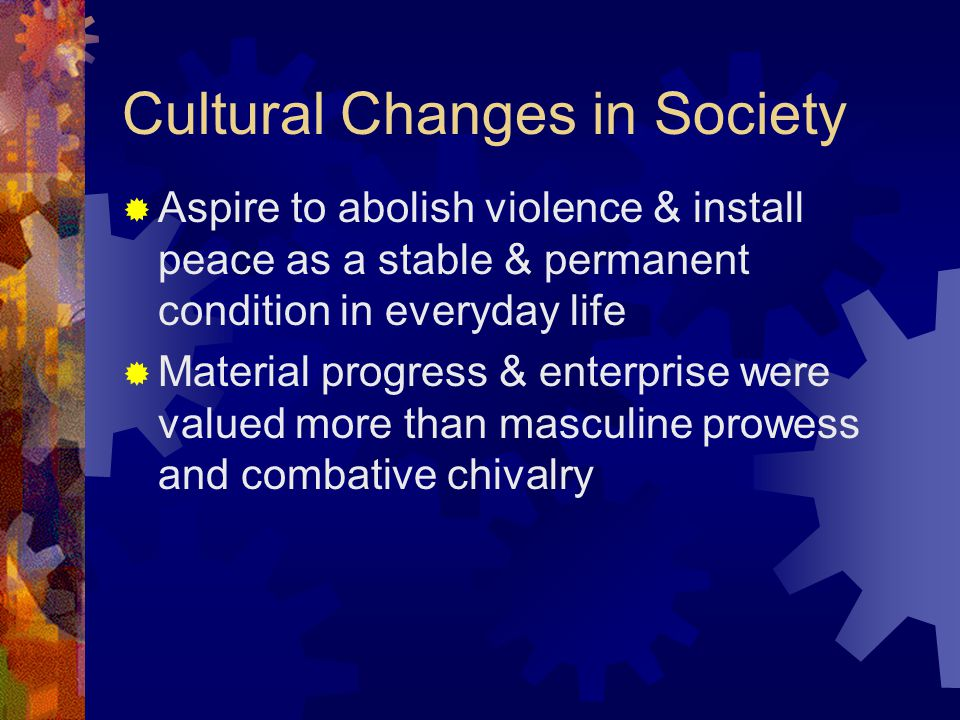 Cultural Changes in Society