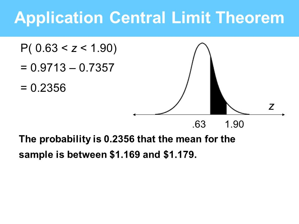 Application Central Limit Theorem