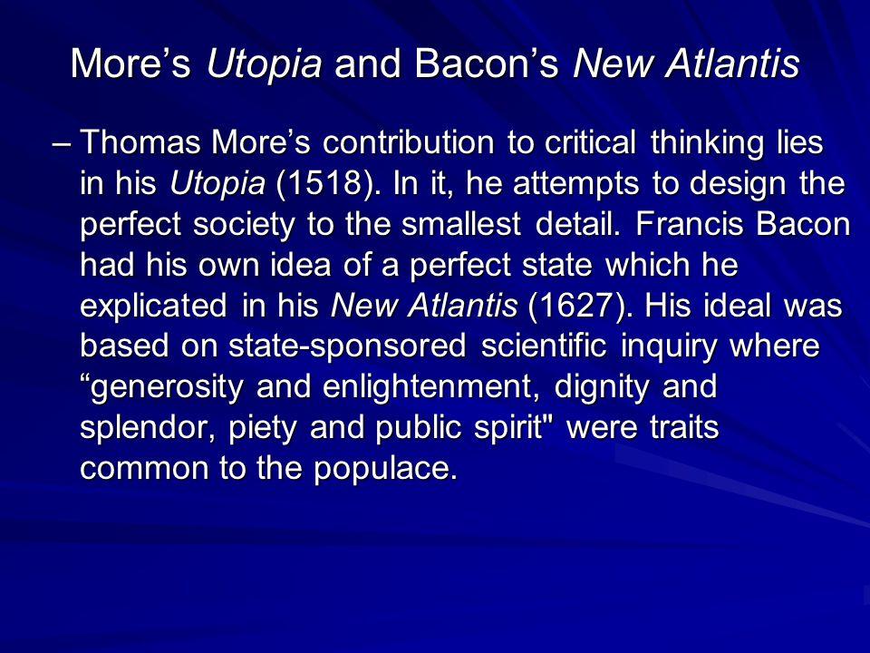 More's Utopia and Bacon's New Atlantis