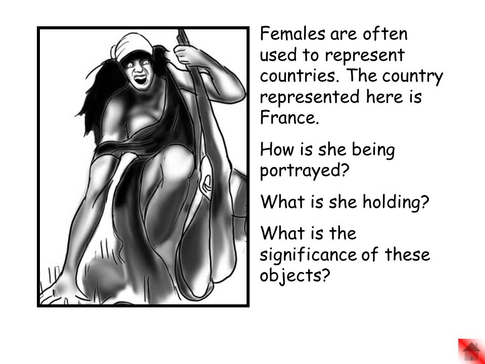 Females are often used to represent countries