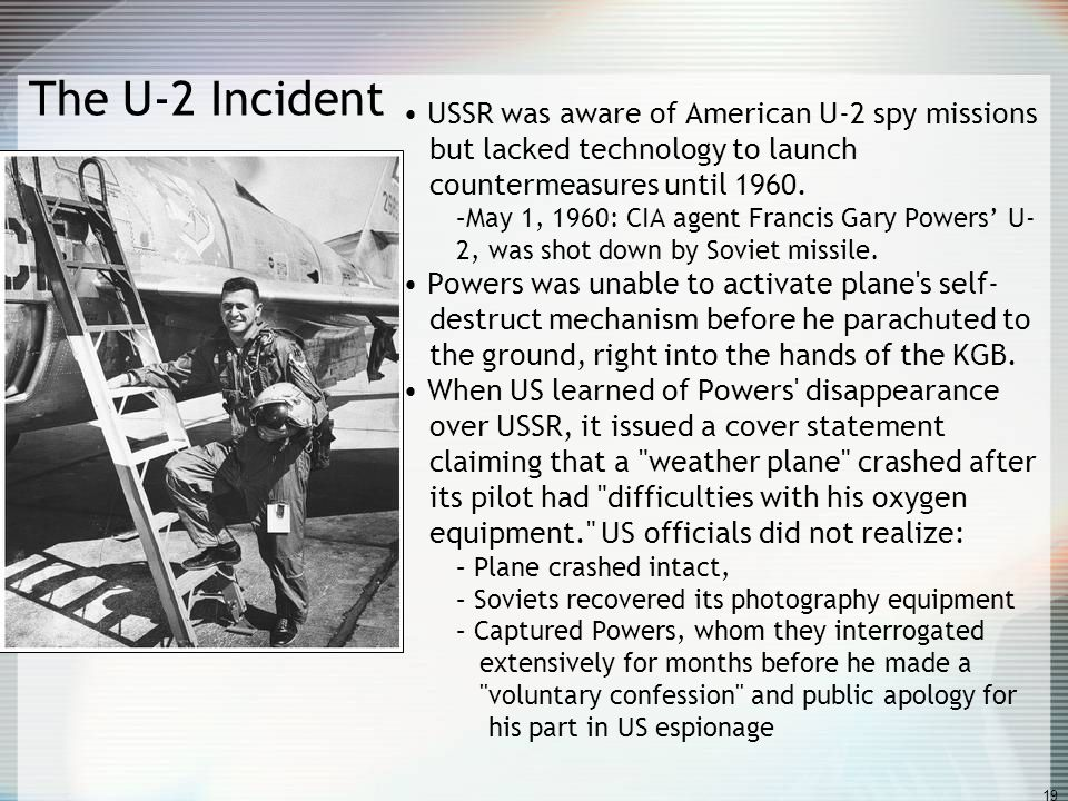 USSR was aware of American U-2 spy missions