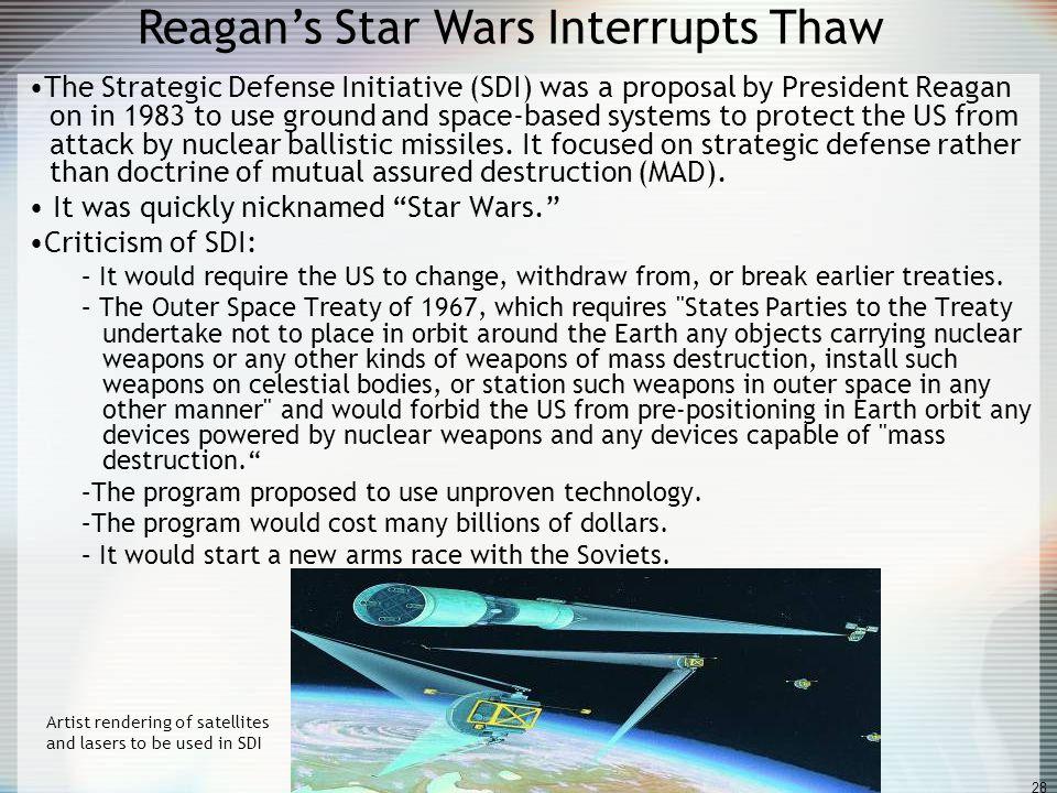 Reagan's Star Wars Interrupts Thaw
