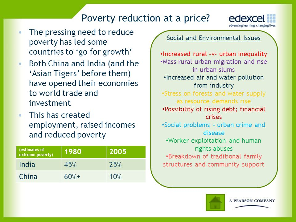 Poverty reduction at a price