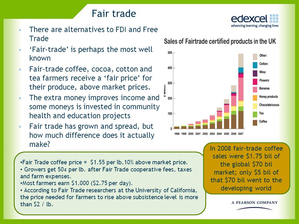 Fair trade There are alternatives to FDI and Free Trade