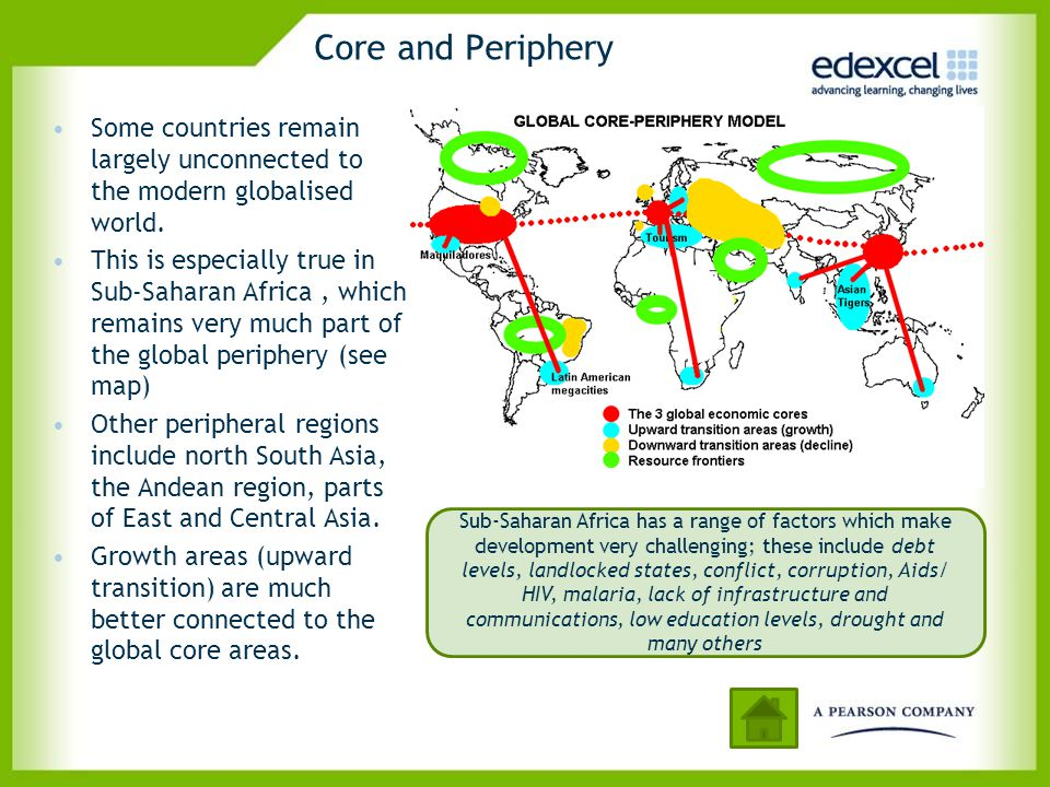 Core and Periphery Some countries remain largely unconnected to the modern globalised world.