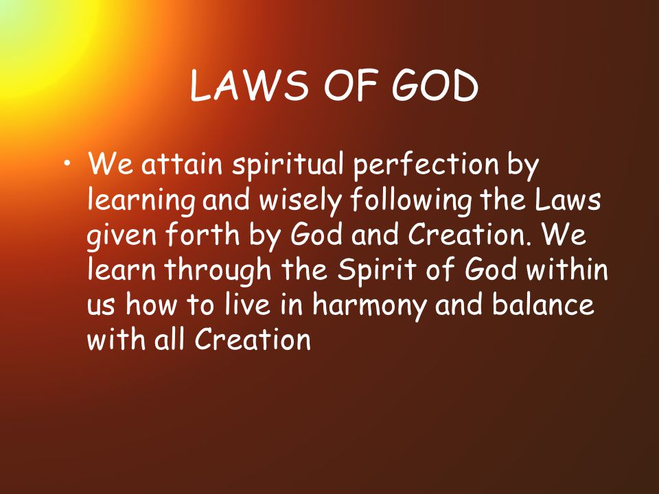 LAWS OF GOD