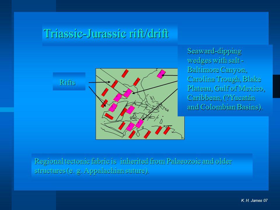 Triassic-Jurassic rift/drift