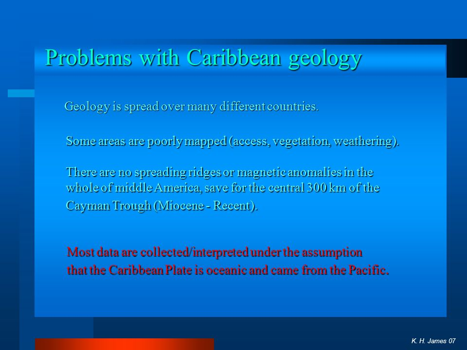 Problems with Caribbean geology