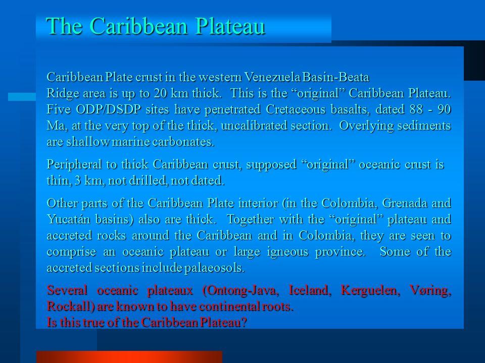 The Caribbean Plateau Caribbean Plate crust in the western Venezuela Basin-Beata.