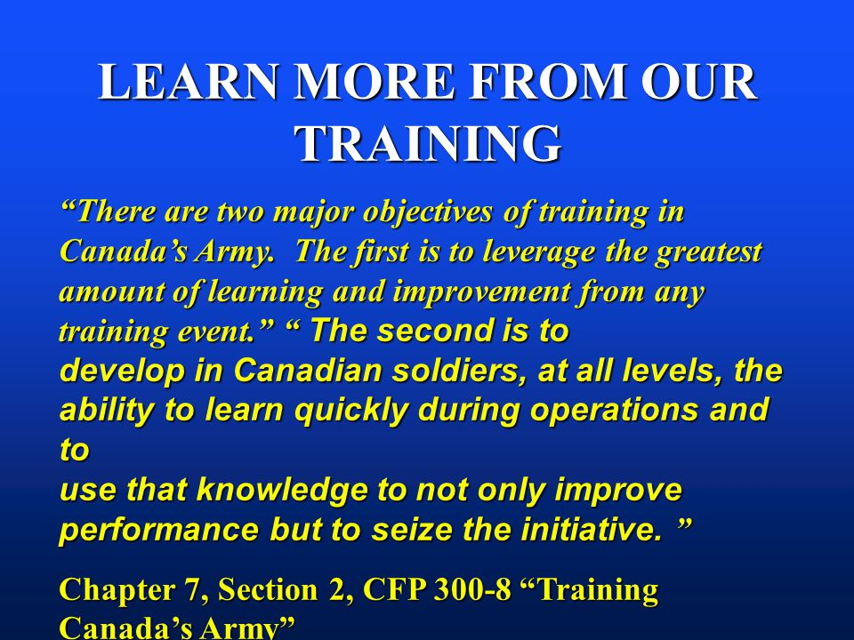 LEARN MORE FROM OUR TRAINING