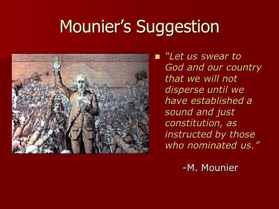 Mounier's Suggestion