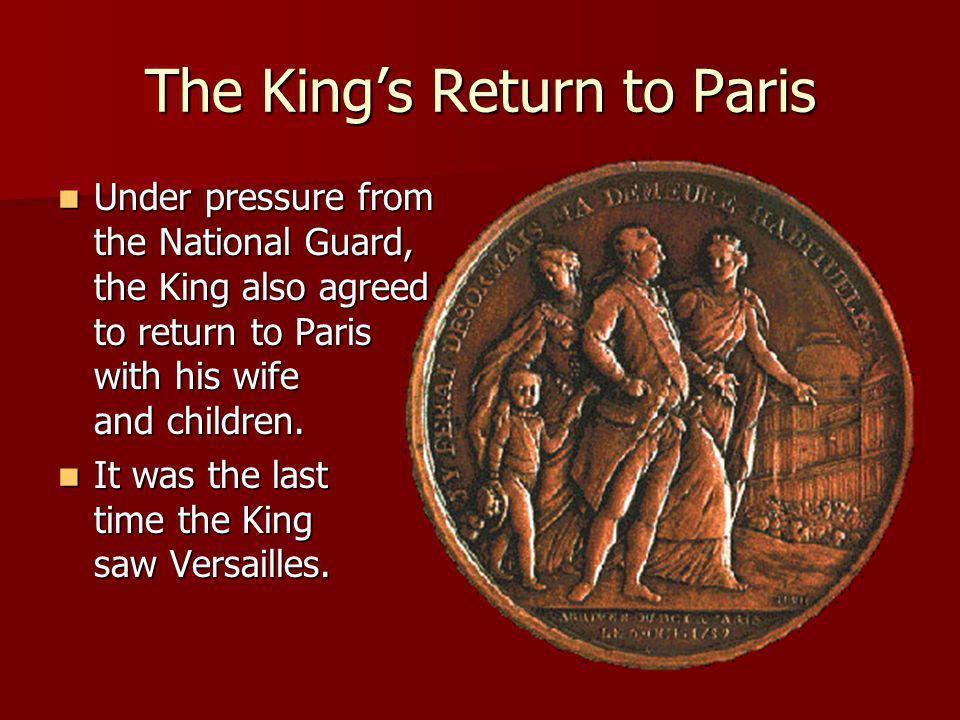 The King's Return to Paris