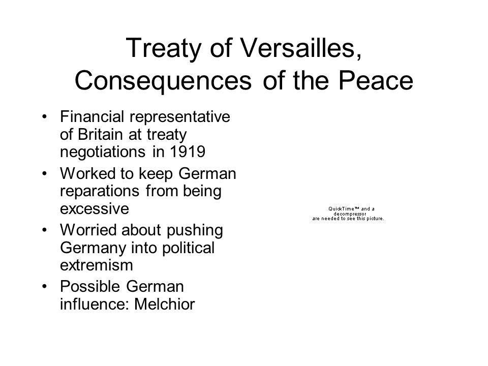 Treaty of Versailles, Consequences of the Peace