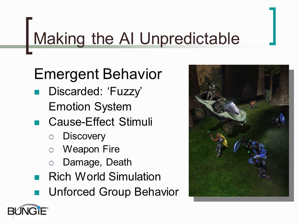 Making the AI Unpredictable